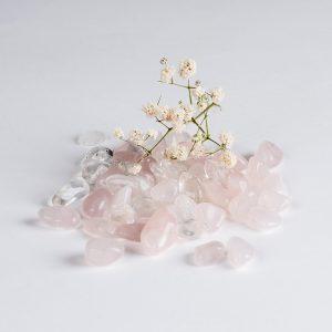 Kit Cristal e Quartzo Rosa